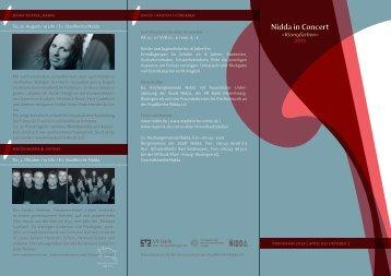 Programmheft 2013 - Evangelische Kirchengemeinde Nidda