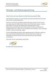 Bedienungsanleitung 05-2013 Exclusiv Home EH-2020 V5