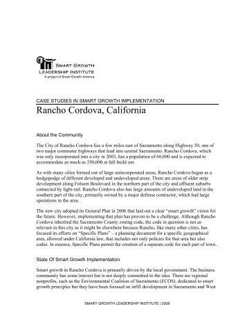Rancho Cordova Case Study - Smart Growth America