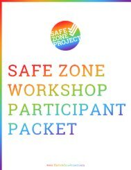 The Safe Zone Project's Participant Package