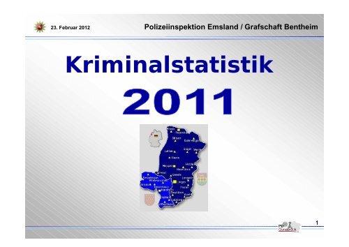 Kriminalstatistik 2011 - Polizeiinspektion Emsland/Grafschaft Bentheim