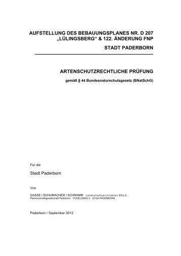 Artenschutzrechtliche Prüfung D 207.pdf - Stadt Paderborn