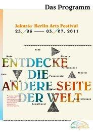 Das Programm - Jakarta Berlin Arts Festival