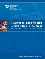 Governments and Muslim Communities in the West