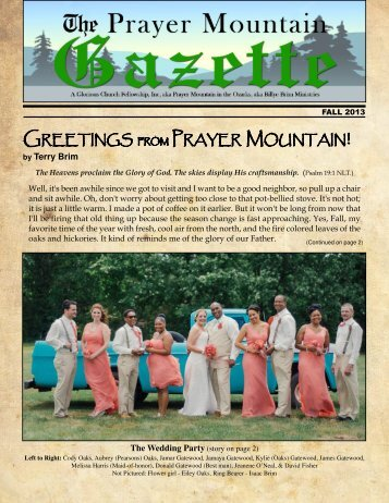 2013 Fall PM Gazette.pdf - Billye Brim Ministries