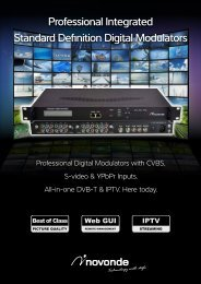 Professional Integrated Standard Definition Digital Modulators