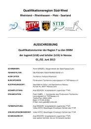 AUSSCHREIBUNG - DJK Saarlouis-Roden