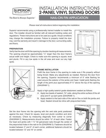 sliding door installation instructions