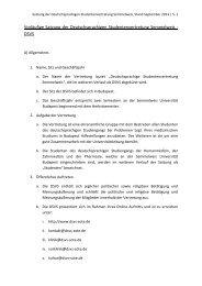 Satzung September 2013 - Deutschsprachige Studentenvertretung ...