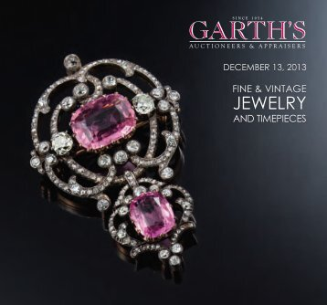 JEWELRY - Garth's Auctions, Inc.