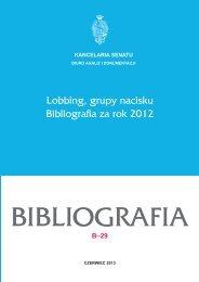 Lobbing, grupy nacisku Bibliografia za rok 2012