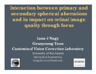 Interaction between primary and secondary spherical aberrations ...