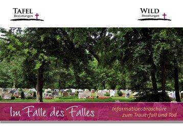Download Broschüre - Tafel Bestattungen