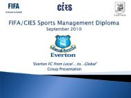 'Everton FC from Local …to…Global' - FIFA/CIES International ...