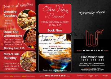 Flame Bar Open Now - WOODFIRE.com - Blacktown
