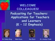 Applications for Teachers and Learners - The Teachers' Podcast