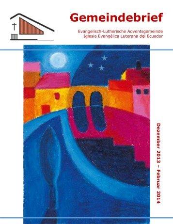 Gemeindebrief - Iglesia Evangélica Luterana del Ecuador
