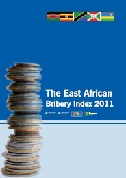 The East African Bribery Index 2011