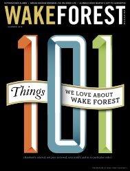 No. - Wake Forest Magazine - Wake Forest University