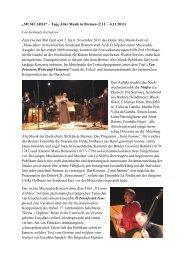Bremer Festival für Alte Musik