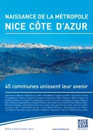 NaissaNce de la métropole Nice côte d'azur