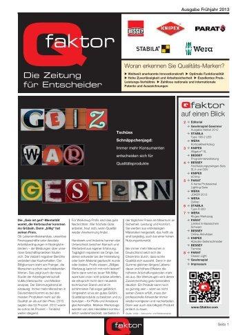 Ausgabe Frühjahr 2013 PDF-Download DE - Qfaktor