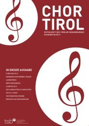 5. Ausgabe - Dezember 2013 - Tiroler Sängerbund