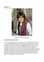 Mindeord Monika ved sin 60 års fødselsdag Monika Rennenberg ...