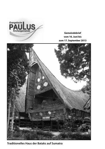 Gemeindebrief - Pauluskirche