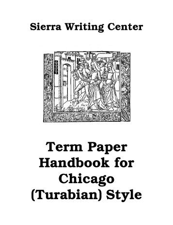 Turabian style thesis papers