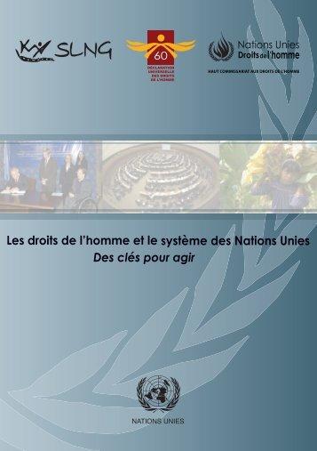 Les droits de l'homme et le système des Nations Unies - NGLS