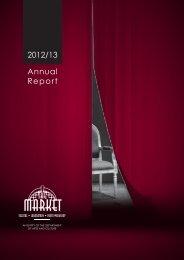 Annual-Report 2013 - Market Theatre