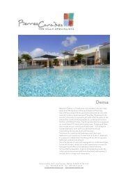 Beautiful Dema is a 5 bedroom ultra-modern villa ... - Pierres Caraibes