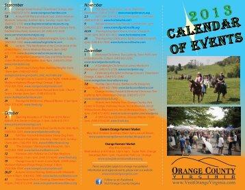 2013 Calendar of Events - Visit Orange County, Virginia
