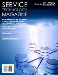 MDM AND SOA: BE WARNED! - Service Technology Magazine