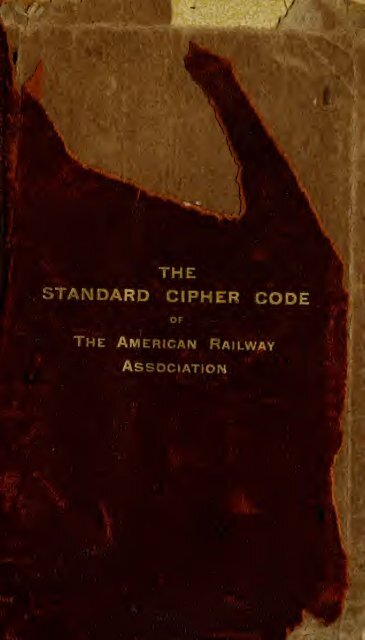 The Standard Cipher Code Of The American Railway Uri