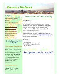 Refrigerators can be recycled? - City of El Paso