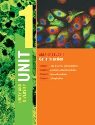 U NITY AND DIVERSITY Cells in action
