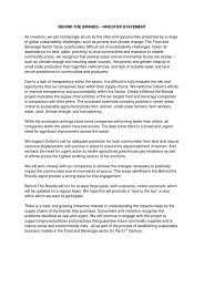 Oxfam Behind the Brands Investor Statement, 17 September 2013