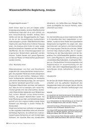Wissenschaftliche Begleitung, Analyse - Berner Münster-Stiftung