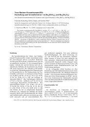 Neue Barium-Oxoantimonate(III): Darstellung und Kristallstruktur ...