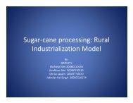 Sugar-cane processing: Rural Industrialization Model