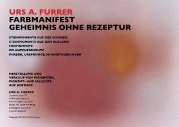 Urs A. Furrer – Geheimnis ohne Rezeptur - art-depot.ch