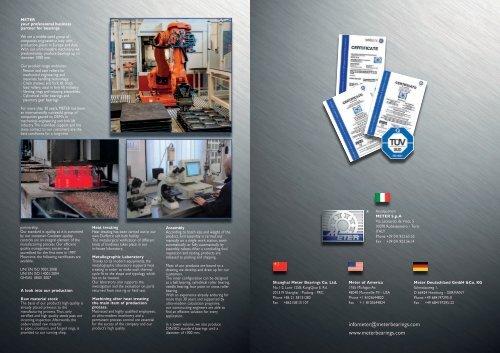 infometer@meterbearings.com www.meterbearings.com - Meter Spa