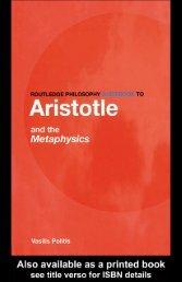 Aristotle on Metaphysics(2004) - Bibotu.com