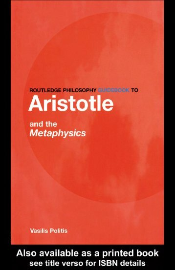 Aristotle on Metaphysics(2004) - Bibotu.com