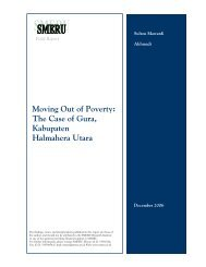 Moving Out of Poverty: The Case of Gura, Kabupaten Halmahera ...
