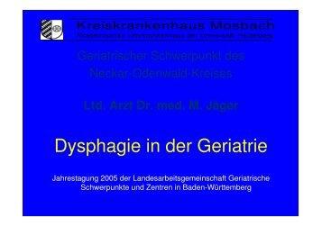 Geriatrischer Schwerpunkt Neckar-Odenwald-Kreis