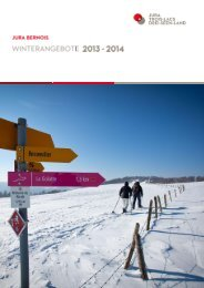 Winterangebote 2013-2014 - Jura bernois Tourisme