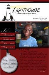 Winter 2011 Newsletter - Lighthouse Ministries International